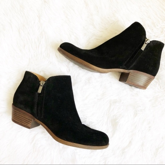 Lucky Brand Barough Black Ankle Boots